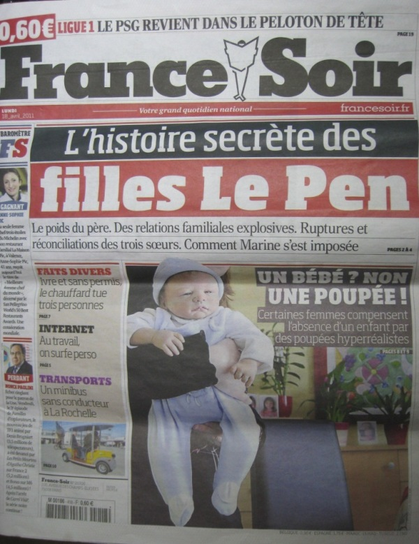 FRANCE SOIR couverture