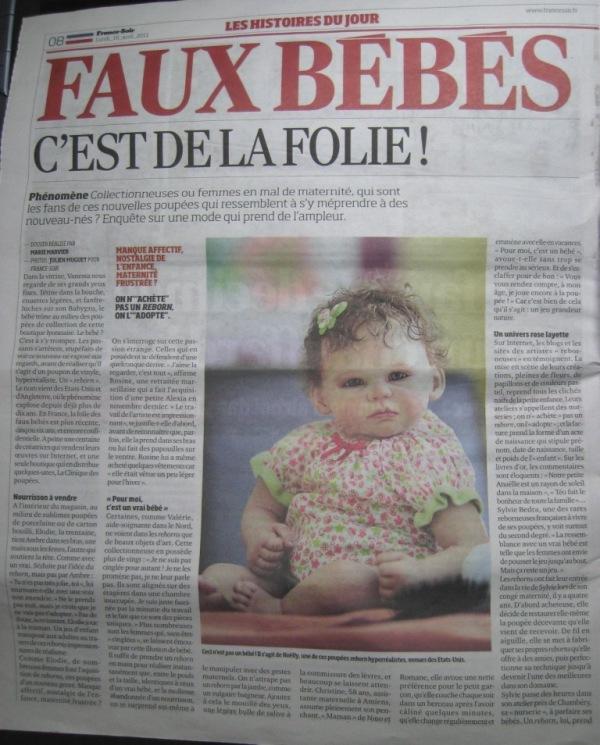 FRANCE SOIR 1ère page
